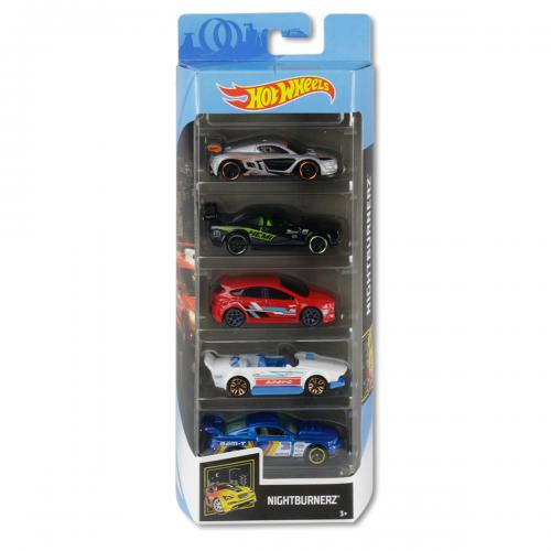 Set masinute Hot Wheels - Nightburnerz GHP58 (5 modele) - Masinute copii -