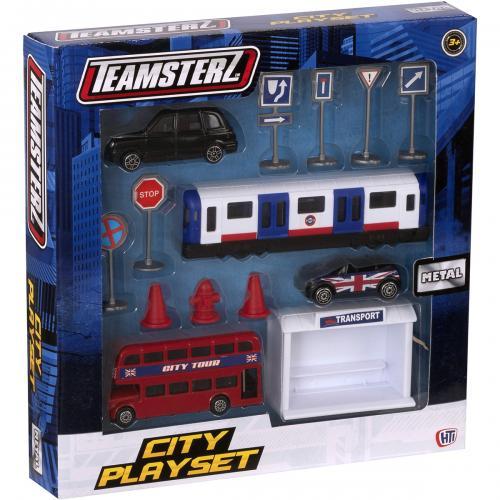 Set masinute metalice Teamsterz - Mijloace de transport - Masinute copii -