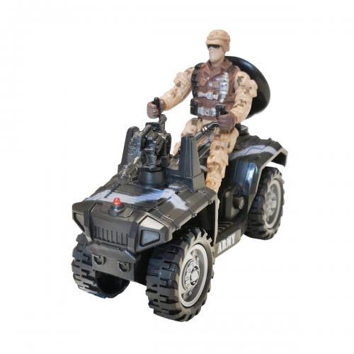 Set militar cu atv si figurina Cool Machines - Masinute electrice -