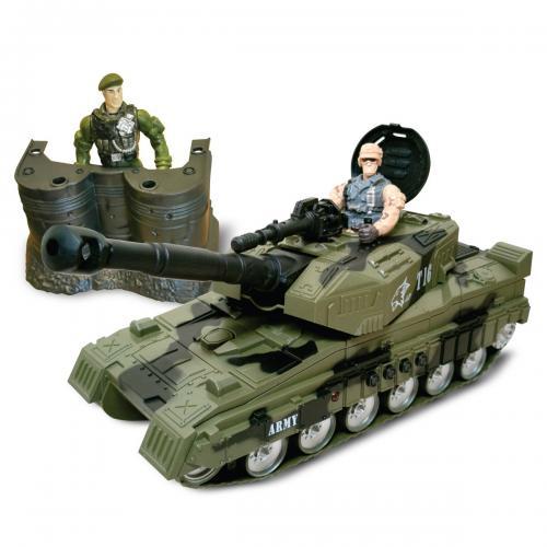 Set militar cu tanc si figurine Cool Machines - Masinute electrice -