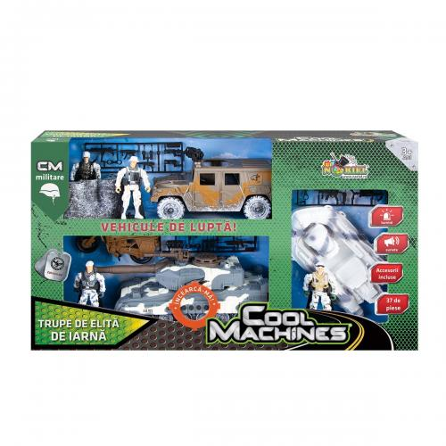 Set militar cu vehicule de iarna Cool Machines - Trupe de elita - Masinute electrice -