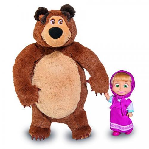 Set papusa si ursulet de plus Masha si Ursul - Papusi fetite -