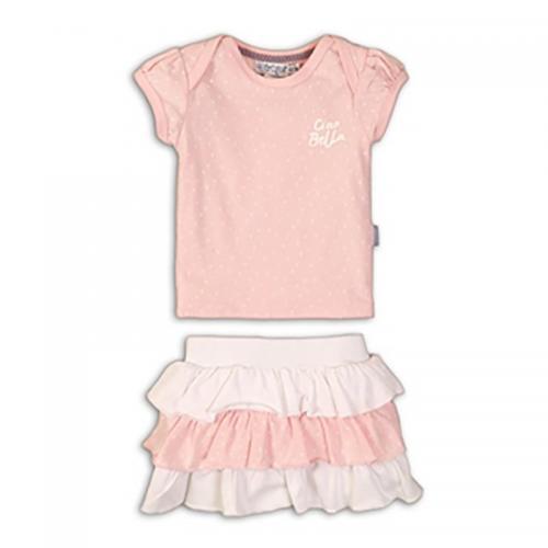 Set tricou si fusta Dirkje - Roz - Imbracaminte copii - Tricouri