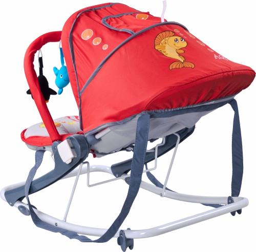 Sezlong balansoar Caretero Aqua Rosu - Camera copilului - Balansoare bebelusi