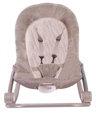 Sezlong cu vibratii BO jungle Bej pentru bebelusi cu arcada jucarii - Centre de activitate copii -