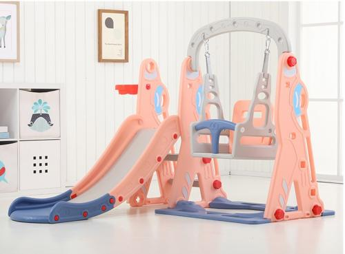 Spatiu de joaca 3 in 1 cu leagan si tobogan Nichiduta Airkraft Pink - Jucarii de exterior - Spatiu de joaca