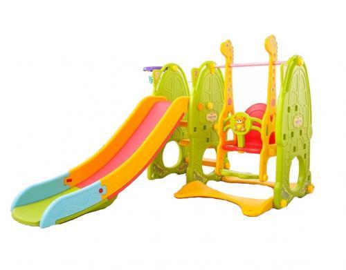 Spatiu de joaca 3 in 1 cu leagan si tobogan Nichiduta Family Green - Jucarii de exterior - Spatiu de joaca