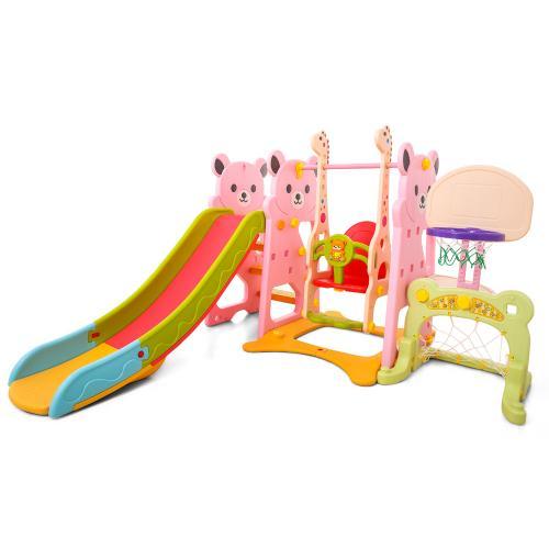Spatiu de joaca 4 in 1 Nichiduta Garden Bear Pink - Jucarii de exterior - Spatiu de joaca