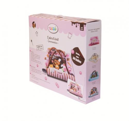 Spatiu de joaca gonflabil Gourmandises Roz Ludi - Camera copilului - Centru de activitati