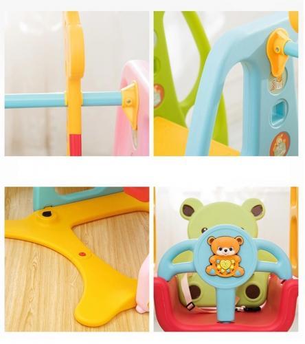 Spatiu de joaca Nichiduta Bear Colorful 3 in 1 - Jucarii de exterior - Spatiu de joaca