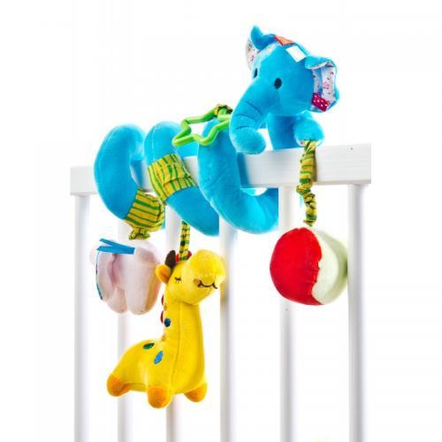 Spirala cu jucarii pentru patutcarucior Sensillo Elephant - Camera copilului - Carusele muzicale
