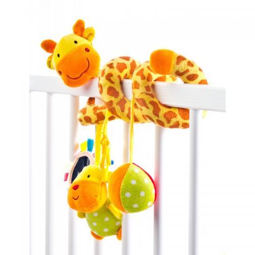 Spirala cu jucarii pentru patutcarucior Sensillo Giraffe - Camera copilului - Carusele muzicale