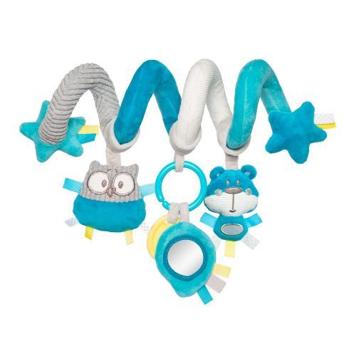 Spirala interactiva din plus Pastel Friends 0 luni turcoaz - Camera copilului - Carusele muzicale