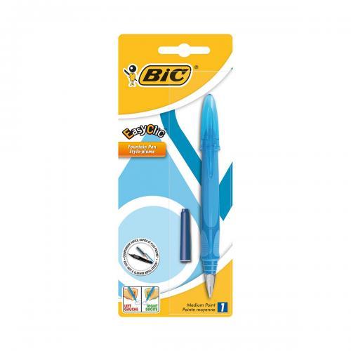 Stilou Standard Easy Clic Bic - Albastru - Rechizite scolare -