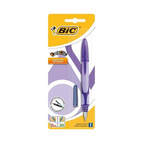 Stilou Standard Easy Clic Bic - Mov - Rechizite scolare -