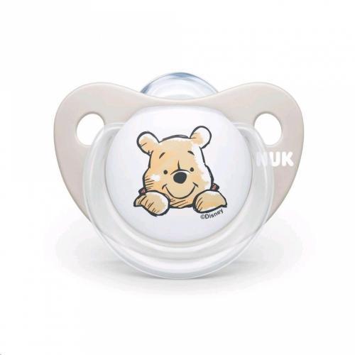 Suzeta Nuk Disney Winnie silicon M2 bej 6-18 luni - Suzete si accesorii -