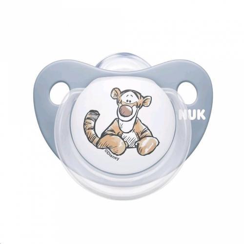 Suzeta Nuk Disney Winnie silicon M2 bleu 6-18 luni - Suzete si accesorii -