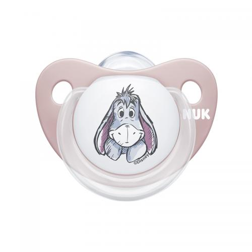 Suzeta Nuk Disney Winnie silicon M2 roz 6-18 luni - Suzete si accesorii -
