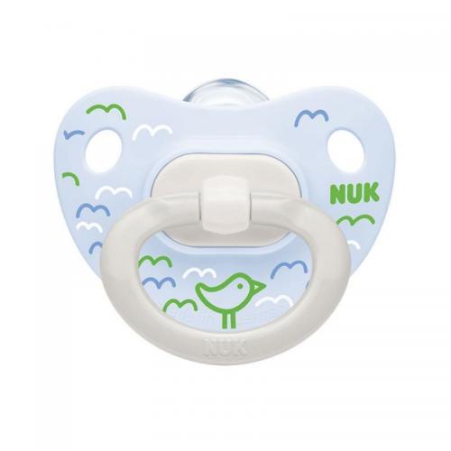 Suzeta Nuk Happy Days Silicon M1 BleuVerde 0-6 luni - Suzete si accesorii -