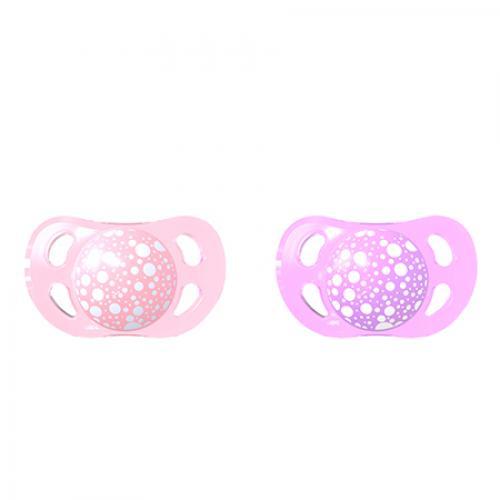 Suzete mini 0-6 luni pastel pink purple Twistshake - Suzete si accesorii -