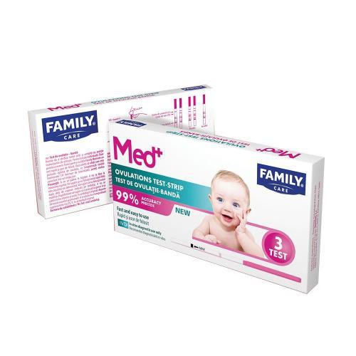 Test ovulatie banda Family Med - 3 buc - Ingrijire corporala - Plasturi-absorbante-teste