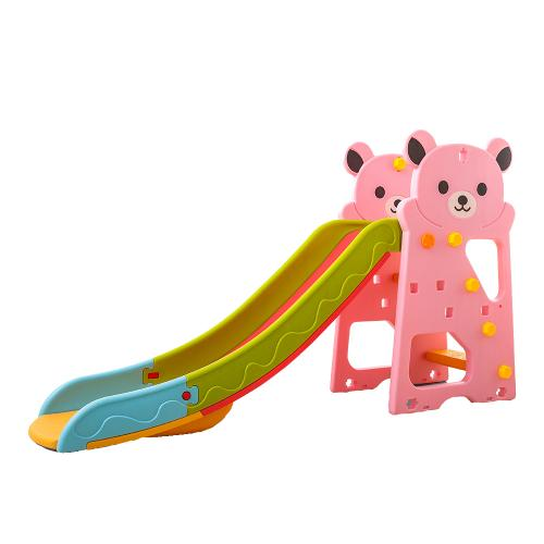 Tobogan Nichiduta Bear Pink 2in1 cu cos de baschet