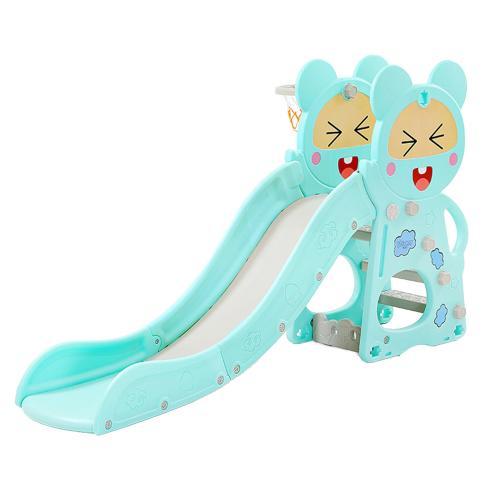 Tobogan Nichiduta Blue Happy Baby 2in1 cu cos de baschet - Leagane si tobogane -