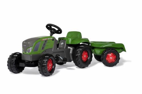 Tractor cu pedale Rolly Kid Fendt 516 Vario cu remorca - Masinute copii -