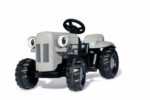 Tractor cu pedale Rolly Kid Little Grey Fergie cu remorca - Masinute copii -