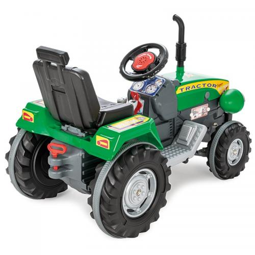 Tractor electric 12V Super Tractor Verde - Masinute electrice -