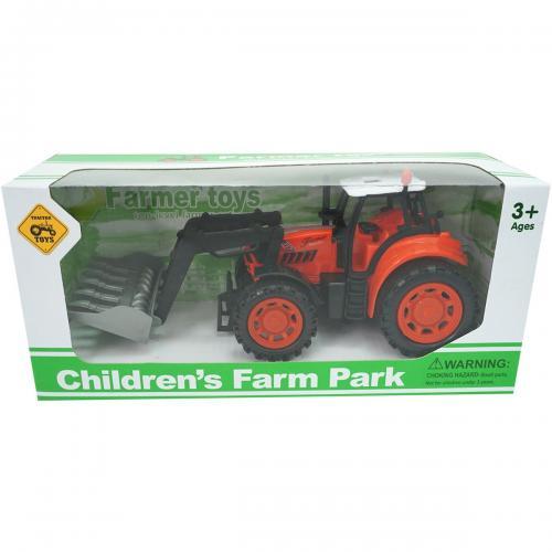 Tractor Farm Unika Toy - Rosu - 25 cm - Masinute copii -