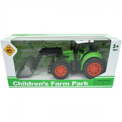 Tractor Farm Unika Toy - Verde - 25 cm - Masinute copii -