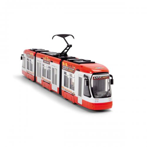 Tramvai de jucarie Dickie - 46 cm - Rosu - Masinute copii -