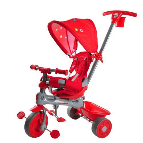 Tricicleta Baby Trike 4 in 1 Giraffe Red - Triciclete copii -
