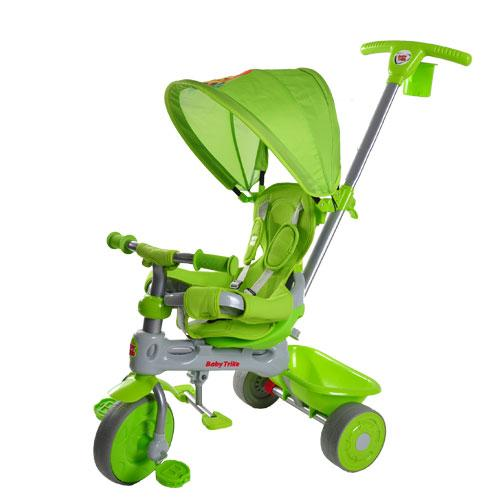 Tricicleta Baby Trike 4 in 1 Lion Green - Triciclete copii -