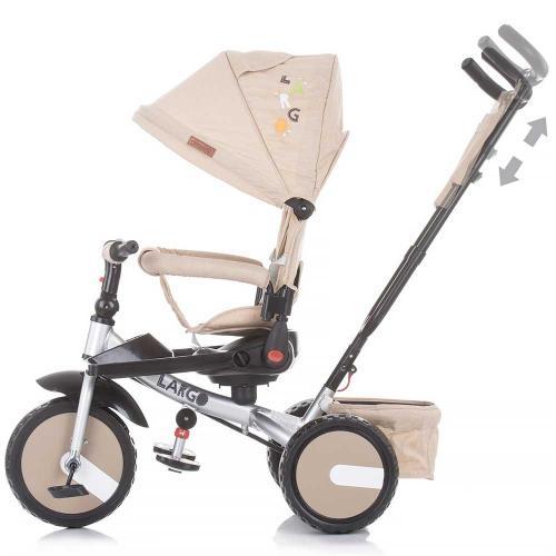 Tricicleta Chipolino Largo mocca - Triciclete copii -