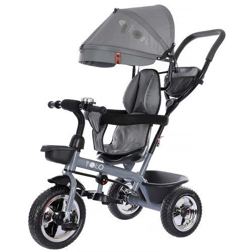 Tricicleta Chipolino Polo grey - Triciclete copii -