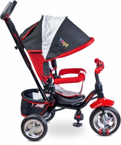 Tricicleta pentru copii cu scaun reversibil Toyz Timmy Red - Triciclete copii -
