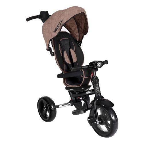 Tricicleta pliabila cu sezut reversibil Nikki Pink Melange 2020 - Triciclete copii -