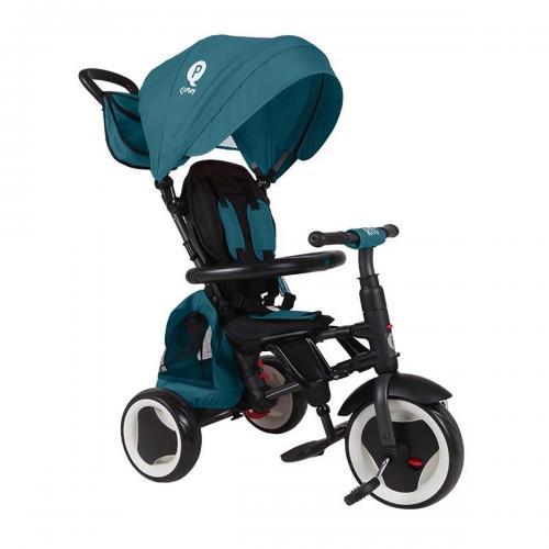 Tricicleta pliabila Qplay Rito Plus - Turcoaz - Triciclete copii -