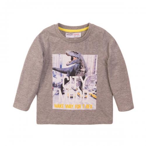 Tricou cu maneca lunga si imprimeu frontal City Mood Minoti 3Todctee - Imbracaminte copii - Tricouri