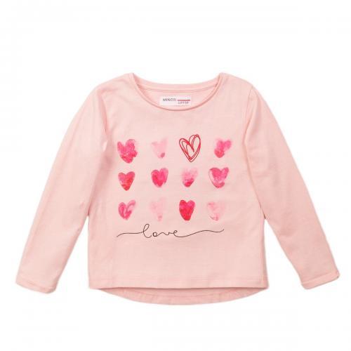 Tricou cu maneca lunga si imprimeu frontal Minoti 4Kidtee - Imbracaminte copii - Tricouri