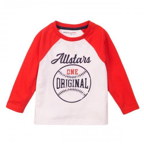Tricou cu maneca lunga si imprimeu frontal One Original Minoti 3Todrtee - Imbracaminte copii - Tricouri