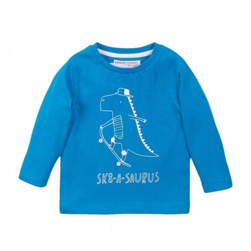 Tricou cu maneca lunga si imprimeu frontal SK8-a-saurus Minoti 3Todctee - Imbracaminte copii - Tricouri
