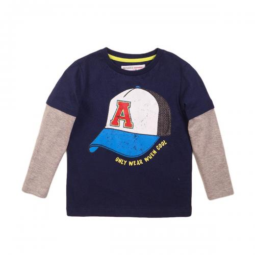 Tricou cu maneca lunga si imprimeu frontal When Cool Minoti 3Kiddtee - Imbracaminte copii - Tricouri