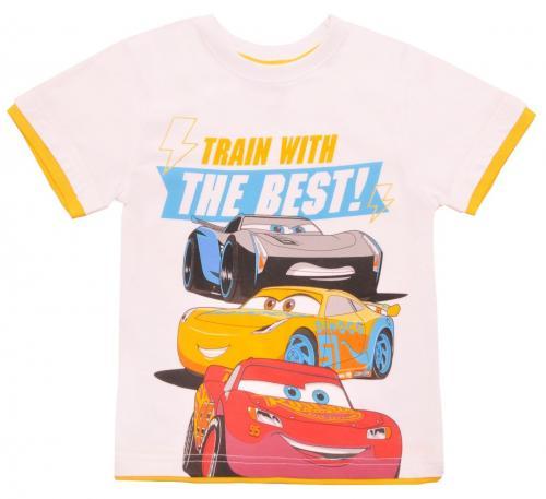 Tricou cu maneca scurta si imprimeu Disney Cars - Alb - Imbracaminte copii - Tricouri