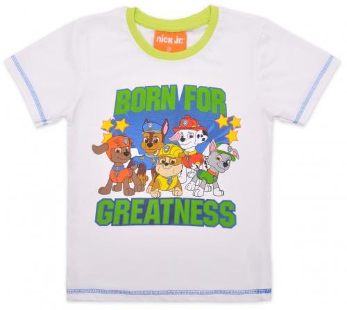 Tricou cu maneca scurta si imprimeu Paw Patrol - Alb - Imbracaminte copii - Tricouri