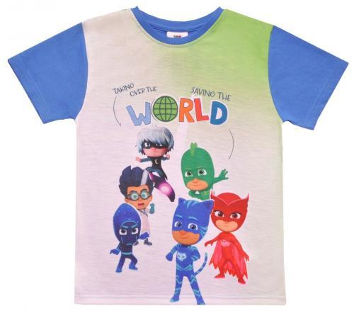 Tricou cu maneca scurta si imprimeu Pj Masks - Albastru - Imbracaminte copii - Tricouri