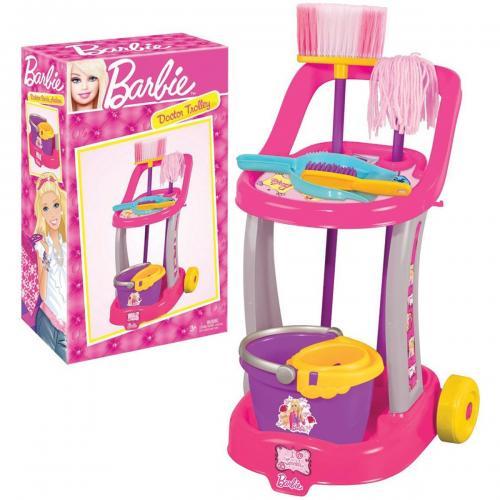 Troler cu accesorii de curatenie Barbie - Jucarii de imitatie -