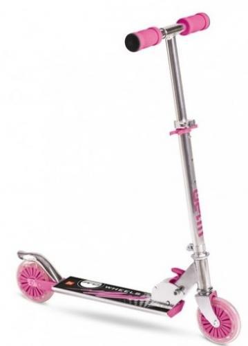 Trotineta copii 2 roti pentru fete roz din aluminiu - Trotinete copii -